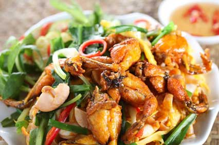 Sautéed Frogs' Legs or Chicken Wings with Lemongrass