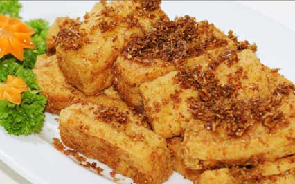 Fried Tofu with Lemongrass and Five Spice