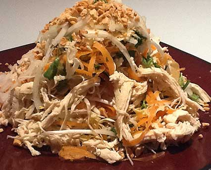 Cabbage Salad with Chicken