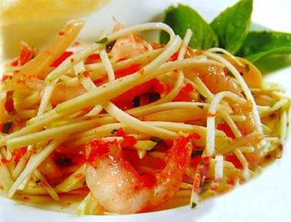 Shrimp and Green Mango Salad